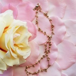 Premier Designs Ball Linked Gold Tone Necklace